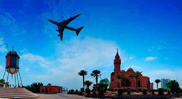 The airport is located 19 kilometres north of Jeddah.